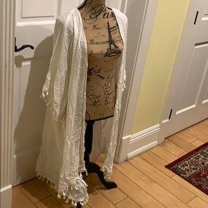 Angie White Cardigan Size L